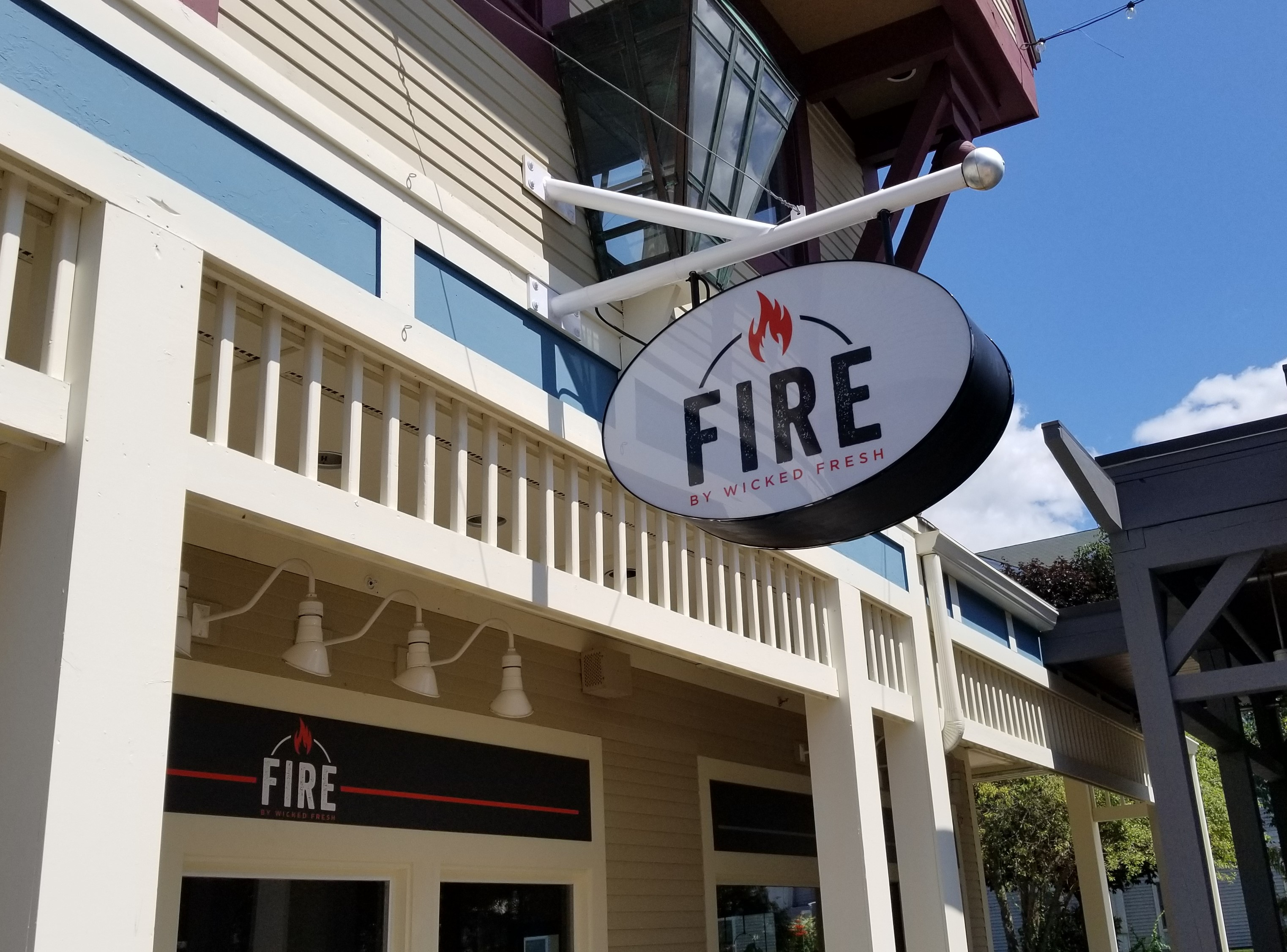 Fire by wicked Int Lit sign