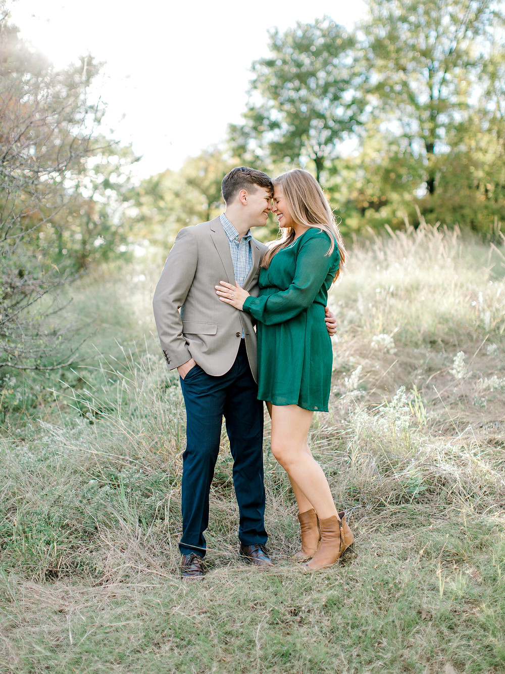 plano outdoor engagement session