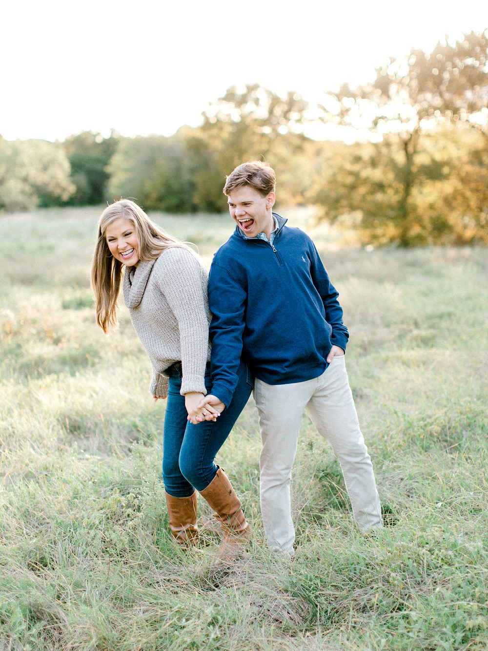 north texas engagement session outdoor fall