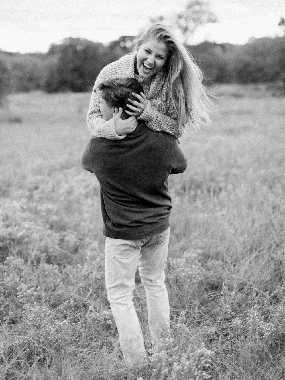 playful engagement session plano arbor hills
