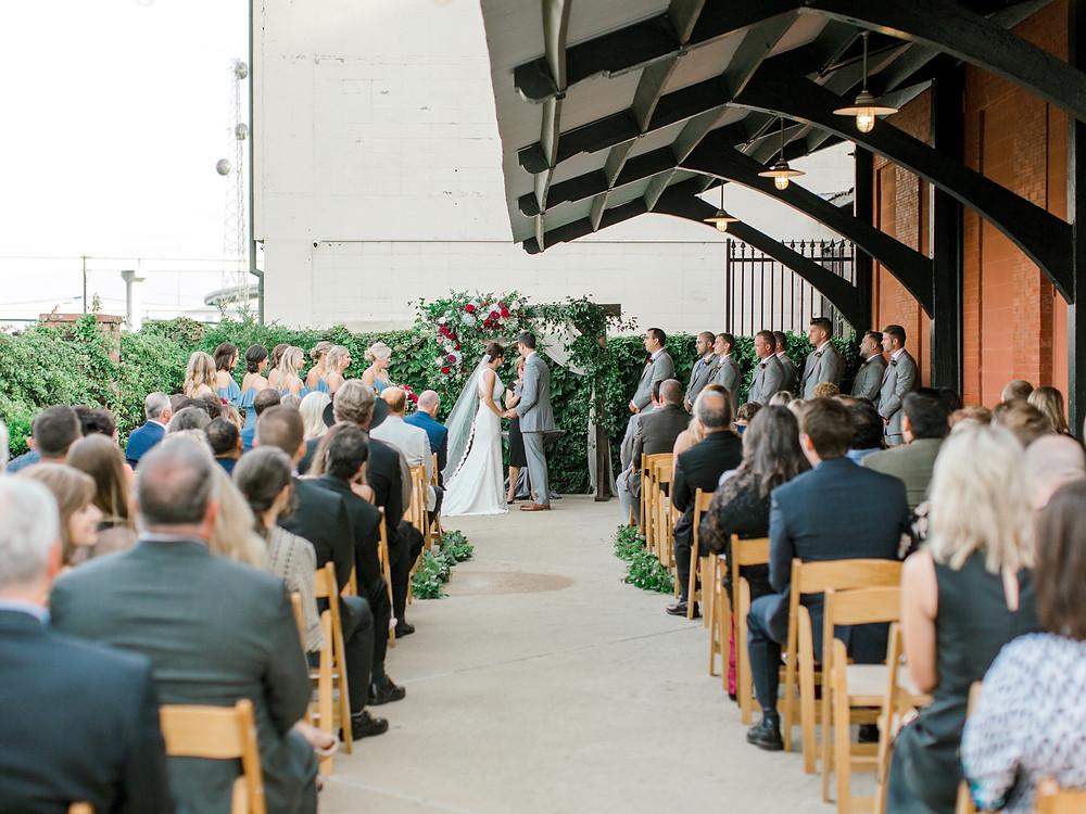 ashton depot wedding ceremony