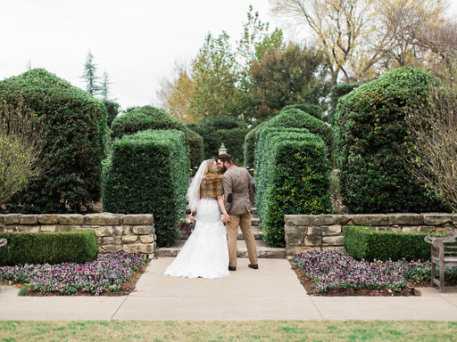 ERICA + JOSH SMITH | DALLAS ARBORETUM WINTERY AFTER WEDDING SESSION