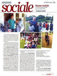"""articolo """"corriere sociale"""" (inserto """"corriere della sera"""")"""