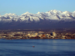Anchorage and the Chugach Mtns