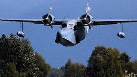 Flight over lake hood