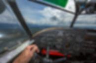 Goose cockpit thru windows