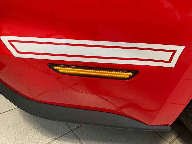 LED Sidemarker Smoke Orange Mustang GT V8/Ecoboost Coupe/Conv