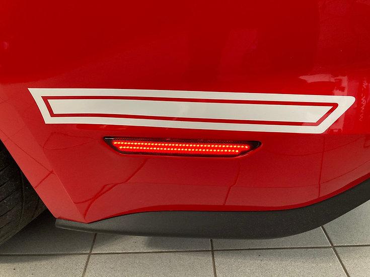 LED Sidemarker Smoke Red Mustang GT V8/Ecoboost Coupe/Conv