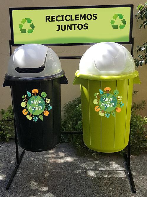 Punto de reciclaje simplificado