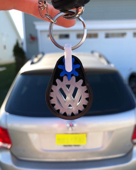 VW + BMW Keychain