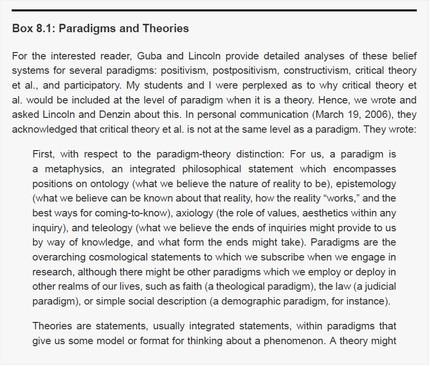 Paradigma ve Teori İlişkisi Üzerine