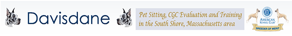 DavisDane Pet Sitting, CGC Evaluations and Training