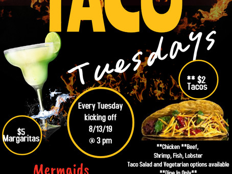 Taco Tuesdays at Mermaids!