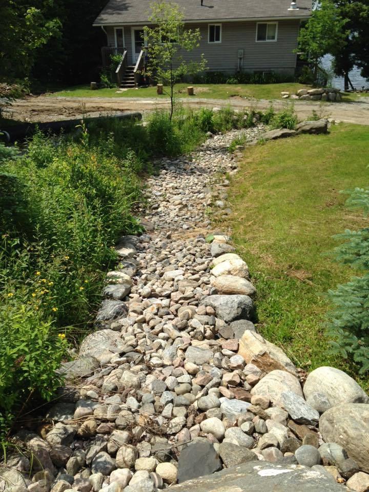 river rock drainage