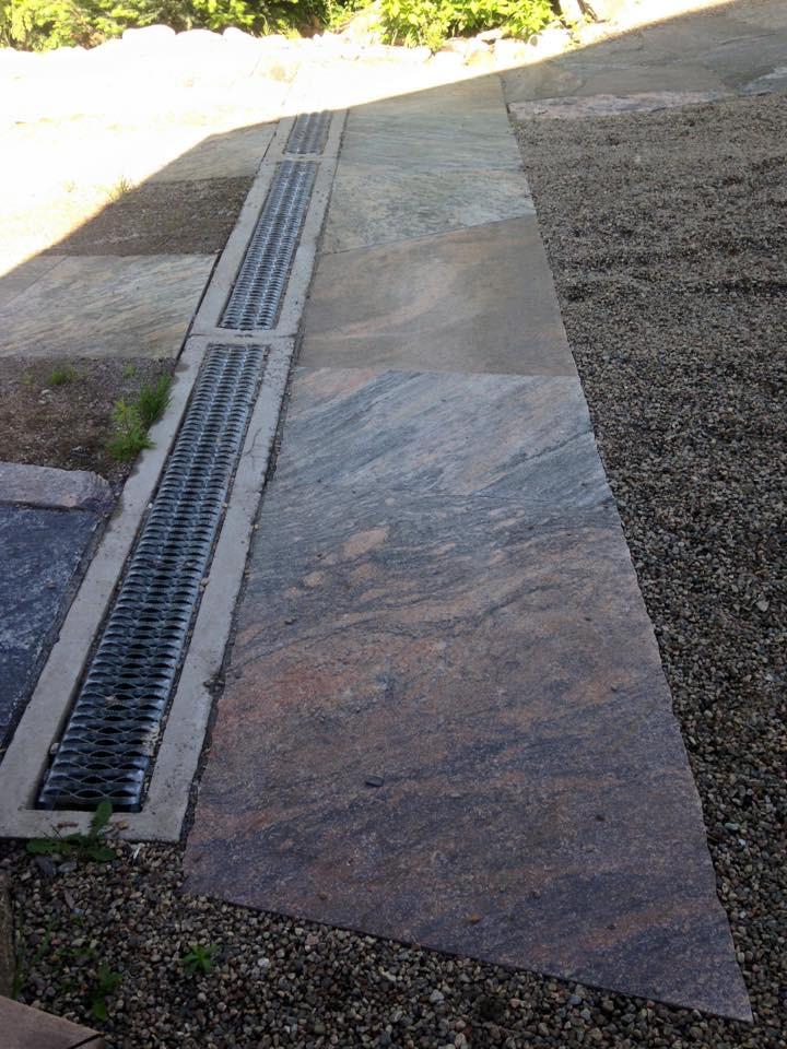 concrete drainage basin