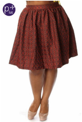 Diamond Print A-Line Skirt