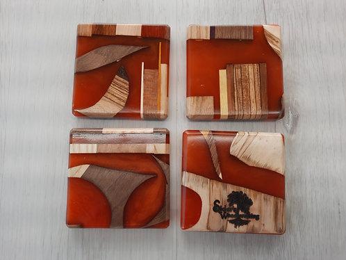Orange Epoxy Coasters