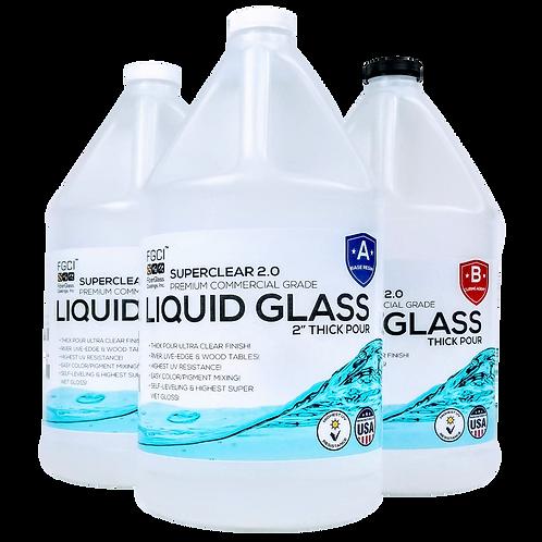 Liquid Glass Deep Pour Epoxy – 3 Gallon Kit