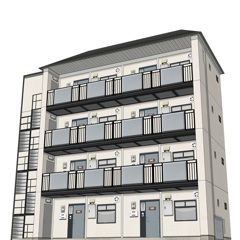 Types Of Apartment Buildings: Apartment Building Type-A