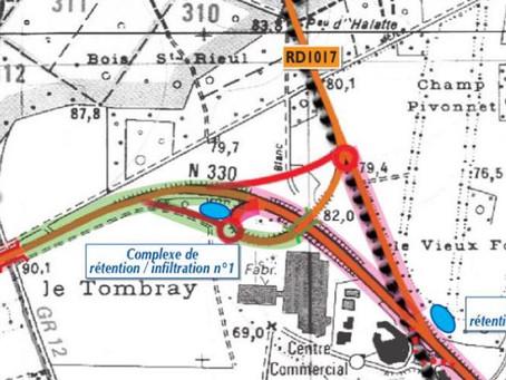 2 ème relance du Conseil Départemental pour la réalisation d'un diffuseur complet RD1330/RD1017.