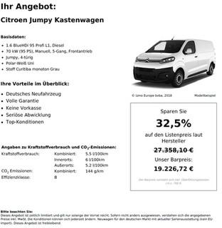 Citroen Jumpy Kastenwagen 1.6 BlueHDi 95 Profi L1, Diesel