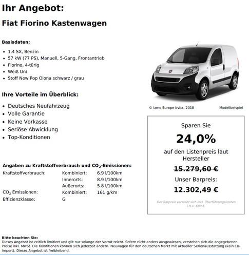 Fiat Fiorino Kastenwagen 1.4 SX