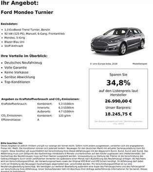 Ford Mondeo Turnier 1,0 EcoBoost Trend Turnier