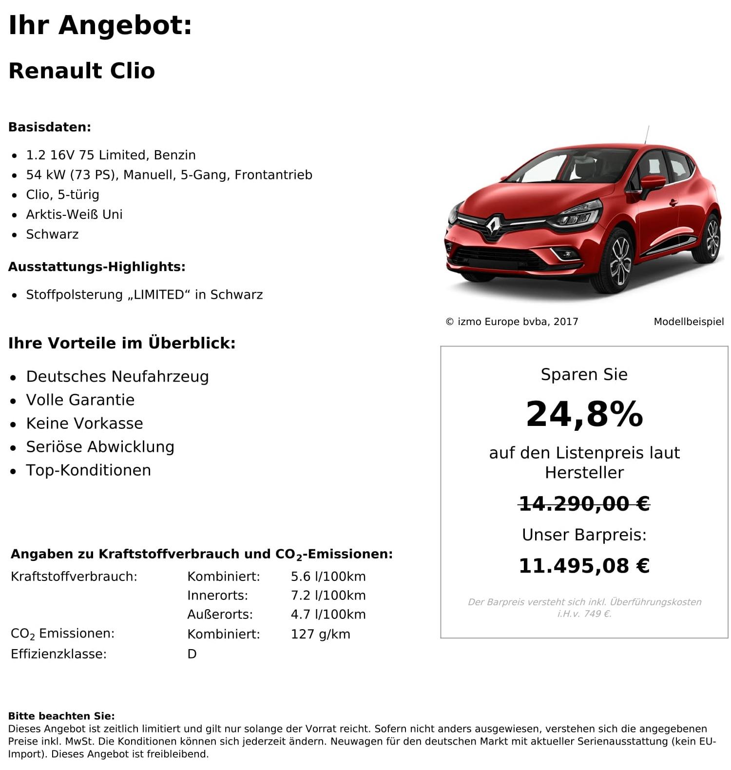 Renault Clio Neuwagen kaufen