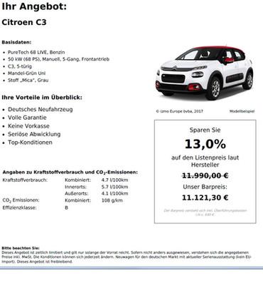 Citroen C3 PureTech 68 LIVE, Benzin