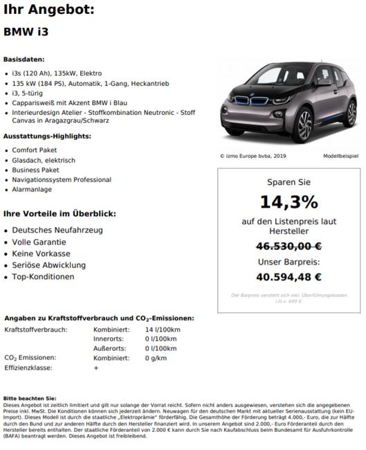 BMW i3s (120Ah), 135kW, Elektro