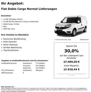 Fiat Doblo Cargo Normal Lieferwagen 1.4 BZ 16V Basis
