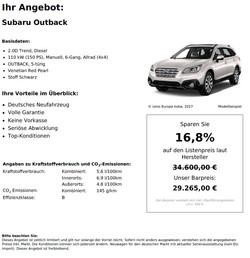 Subaru Outback Neuwagen kaufen