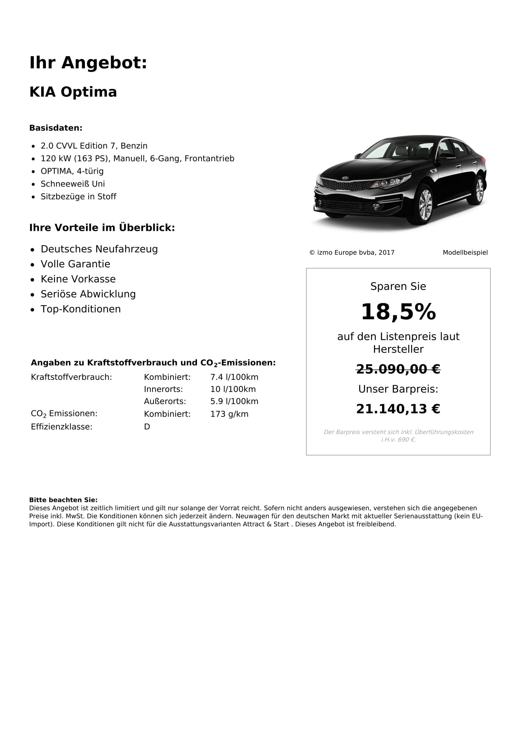 KIA Optima Neuwagen
