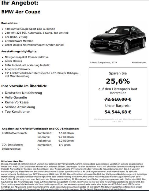 BMW 4er Coupé 440i xDrive Coupé Sport Line A,Benzin