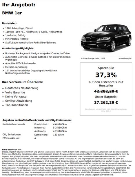 BMW 1er 118d Advantage, Diesel