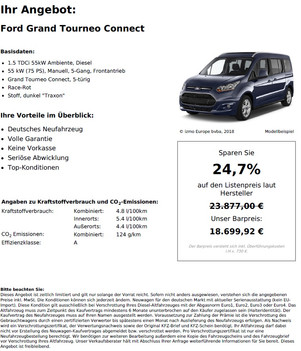 Ford Grand Tourneo Connect 1.5 TDCi 55kW Ambiente