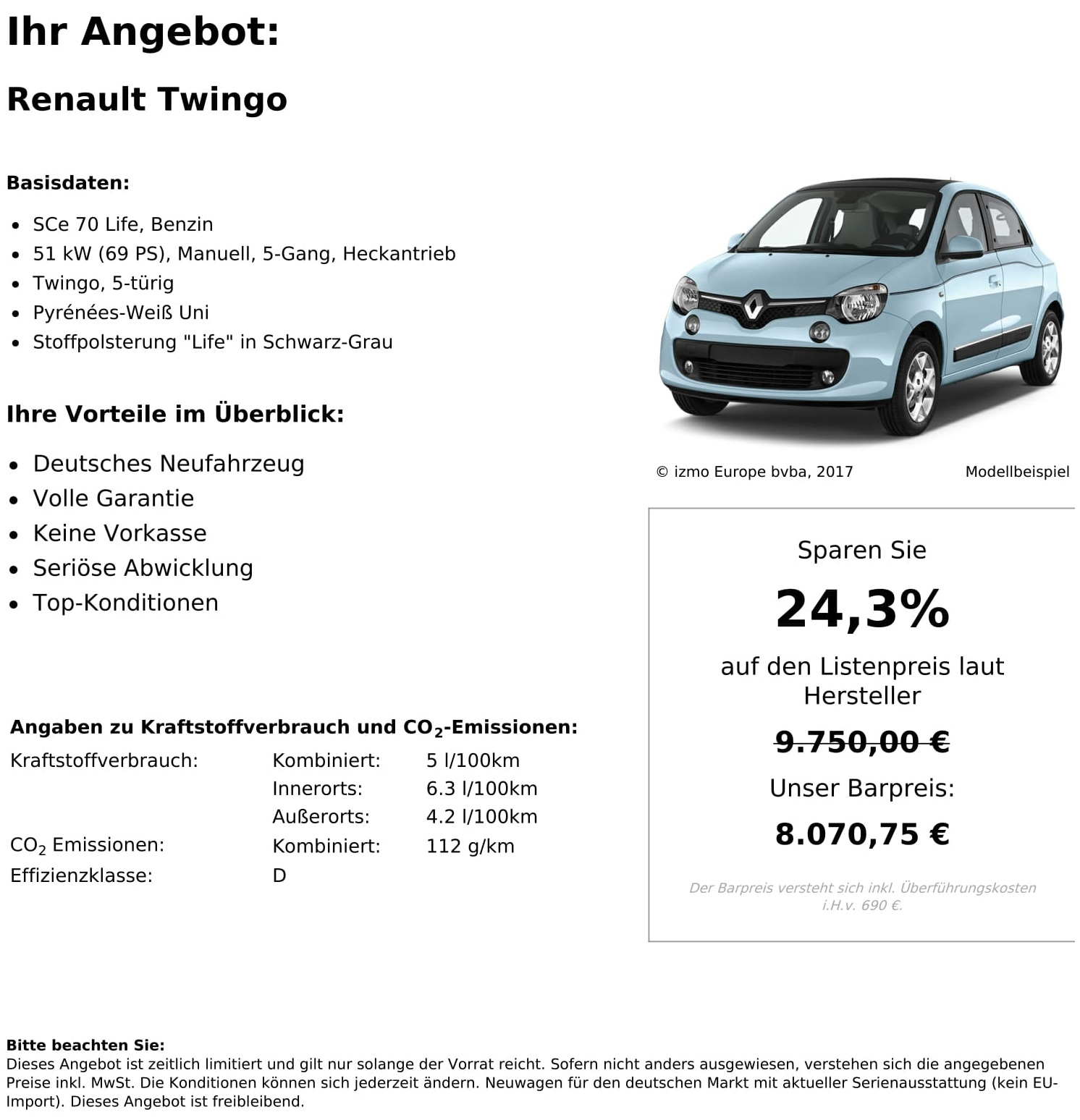 Renault Twingo Neuwagen