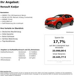 Renault Kadjar Neuwagen