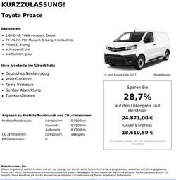 Toyota Proace Neuwagen