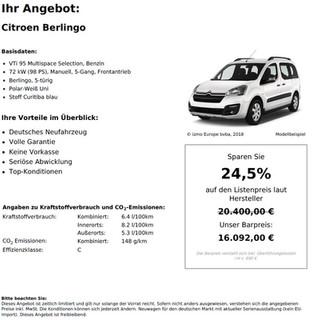 Citroen Berlingo VTi 95 Multispace Selection