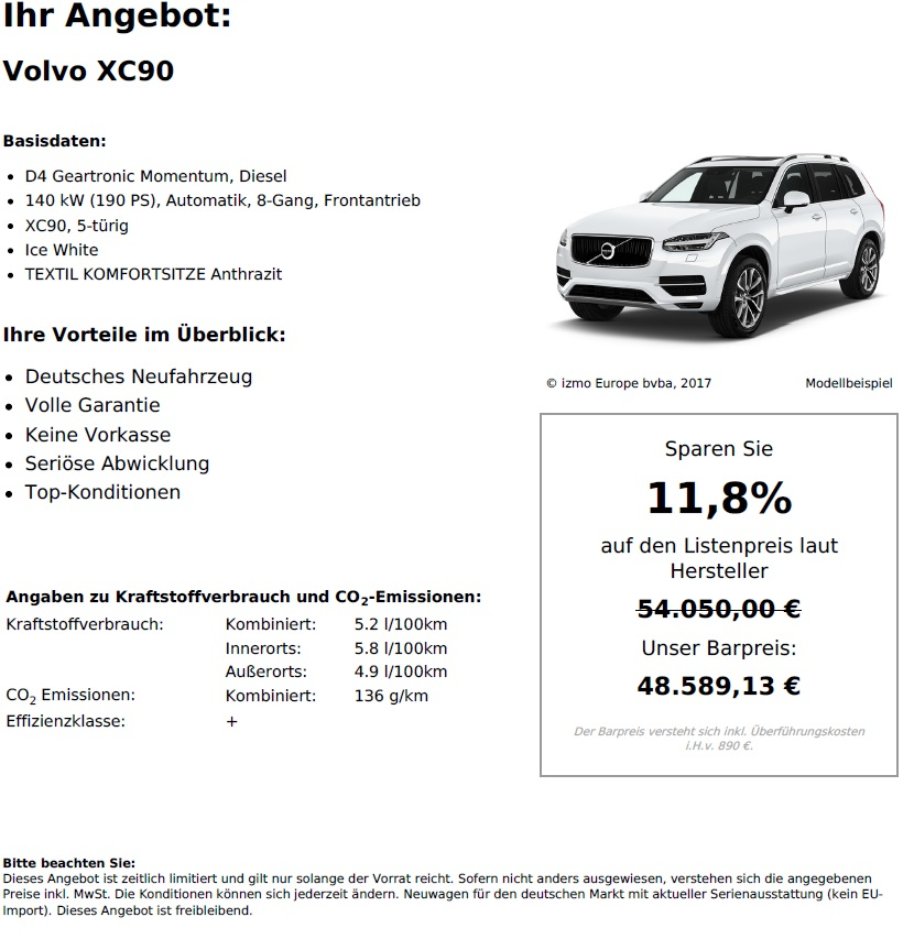 Volvo XC90 D4 Geartronic Momentum