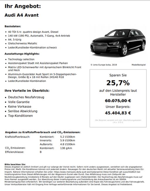 Audi A4 40 TDI s tr quattro design Avant