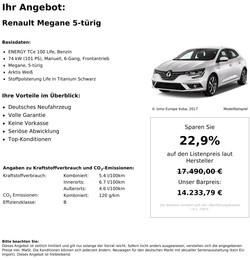 Renault Megane Neuwagen