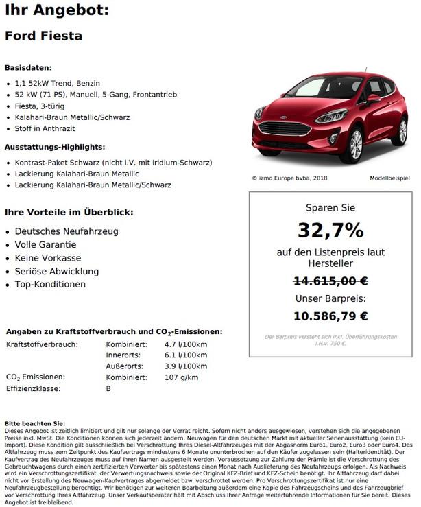 Ford Fiesta 1,1 52kW Trend