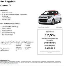 Citroen C1 VTi 68 Live, Benzin 51 kW (69 PS)