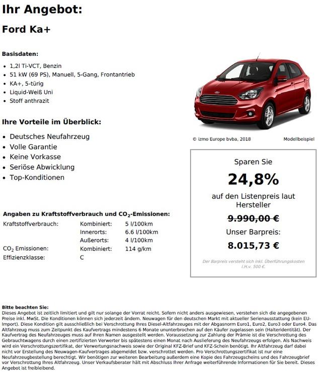 Ford Ka+ 1,2l Ti-VCT
