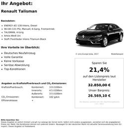 Renault Talisman Neuwagen kaufen