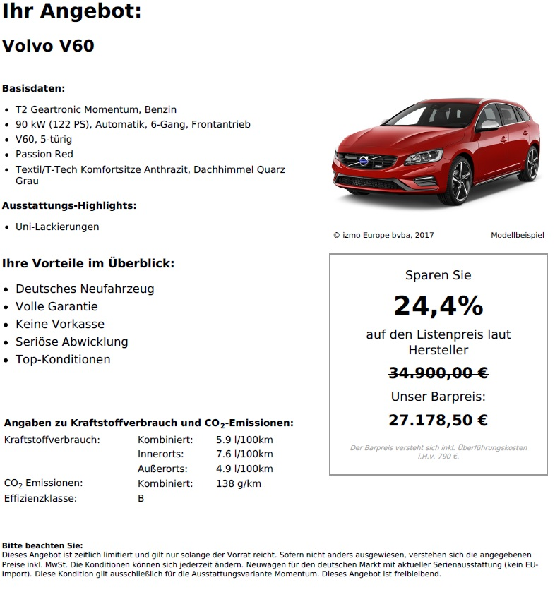 Volvo V60 T2 Geartronic Momentum