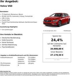 Volvo V60 T2 Geartronic Momentum