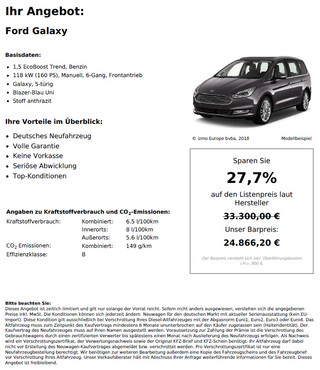 Ford Galaxy 1,5 EcoBoost Trend